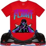 TAKE FLIGHT - Red w/ Purple & Aqua
